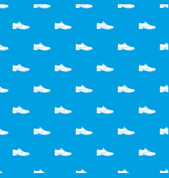 men shoe pattern seamless blue vector image vector image