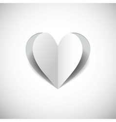 paper heart on white backgroundjpg vector image vector image
