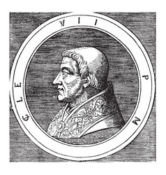 Pope clement vii vintage vector
