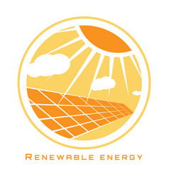 renewable energy solar energy vector image