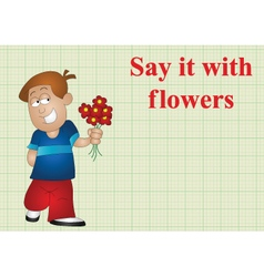 Say it with flowers vector image vector image