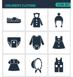 Set of modern icons Children s clothing vector image vector image