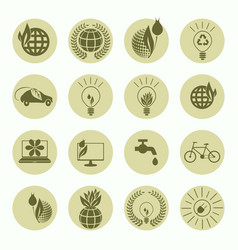 signs of ecology set vector image