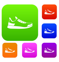 sneaker set collection vector image vector image