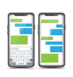 social messenger speech bubbles vector image vector image
