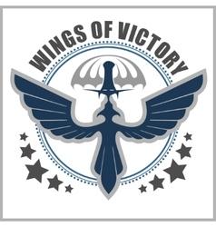 Special unit military emblem design vector image vector image