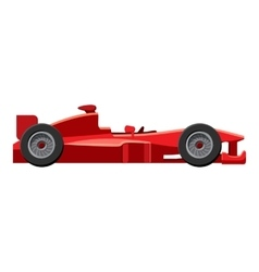 Sport car side view icon isometric 3d style vector