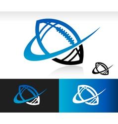 Swoosh Football Logo Icon vector image