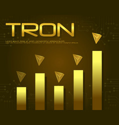 Tron blockchain design background collection vector