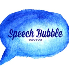 watercolor drawn blue speech bubble vector image