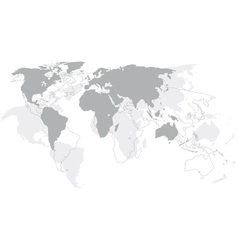 World map - Continents vector image
