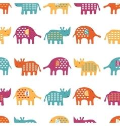 African animals cute seamless pattern vector