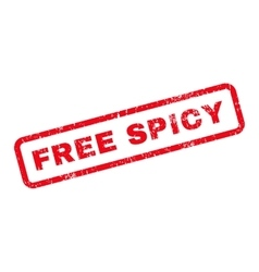 Free spicy text rubber stamp vector
