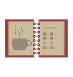open menu restaurant of beverage vector image
