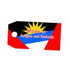 antigua and barbuda flag on price tag with word vector image