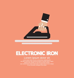 Electronic iron in hand vector