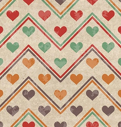 Geometric seamless pattern with hearts vector