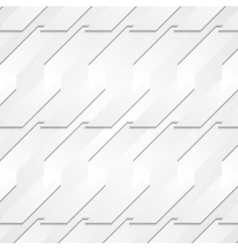 Grey paper tech shapes background vector