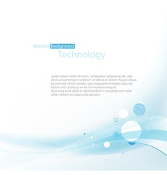 Blue technoplogy background vector