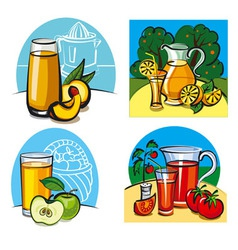 Fresh juices vector