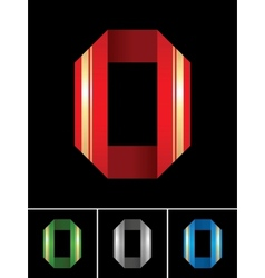 Numeral of paper tape - 0 vector image