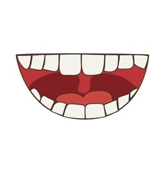 Smile cartoon icon mouth design graphic vector