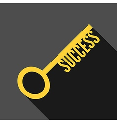 Success key long shadow vector