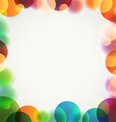 Abstract background of different color circles vector