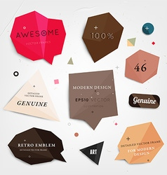 Abstract sticker set vector