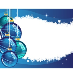 Blue Christmas balls vector image
