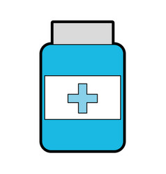 blue pill bottle vector image