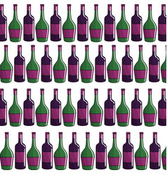 bottle of wine background icon stock vector image