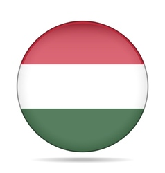 button with flag of Hungary vector image