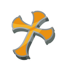 Christianity cross symbol vector