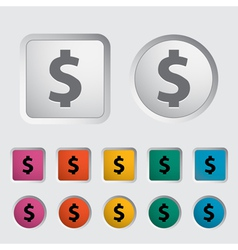 Dollar sing vector image vector image