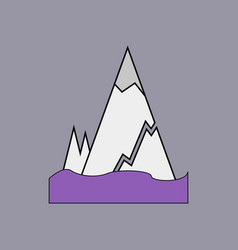 Flat icon design collection iceberg with crack vector