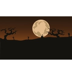 Halloween Scary backgrounds and full moon vector image vector image