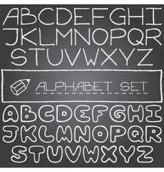 Hand drawn set on letters 2 full alphabets vector image vector image