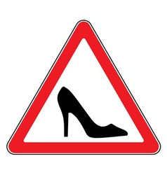 High heel shoes road sign vector