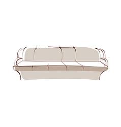 icon sofa vector image vector image