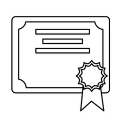 Isolated certificate design vector