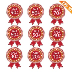 Label stitch sale tag - - EPS10 vector image vector image