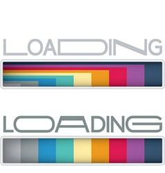 Loading bars vector image vector image