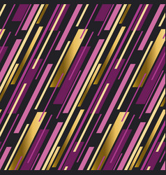 luxury gold and pink stripe motif vector image