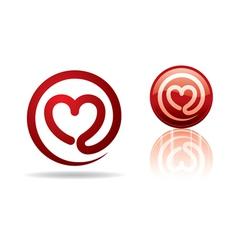 Mail heart vector