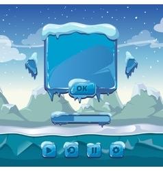 Main winter game menu vector image
