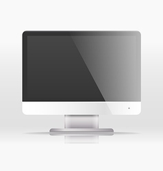 Modern lcd monitor template paste your content vector