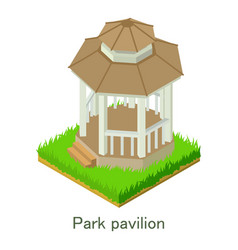 park pavillon icon isometric style vector image vector image