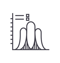 probability line icon sign vector image