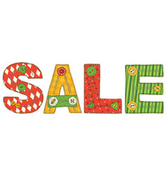 Sale in patchwork style vector